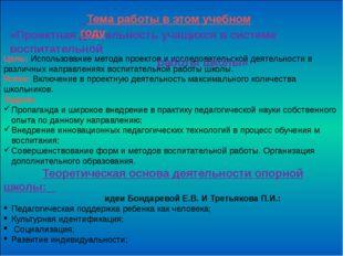 Цель: Использование метода проектов и исследовательской деятельности в разли