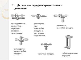 Детали для передачи вращательного движения цилиндрическая прямозубая передач