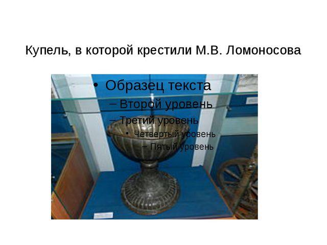 Купель, в которой крестили М.В. Ломоносова
