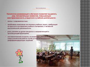 Тема по самообразованию: «Развивающая деятельность на уроках в начальной шко