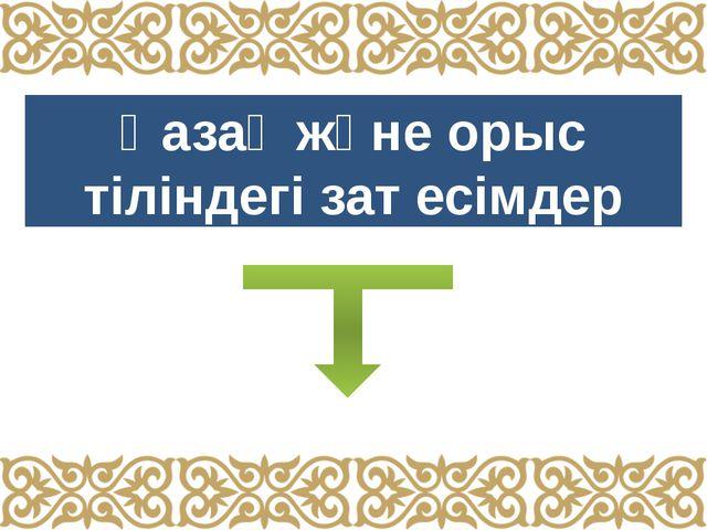 Қазақ және орыс тіліндегі зат есімдер