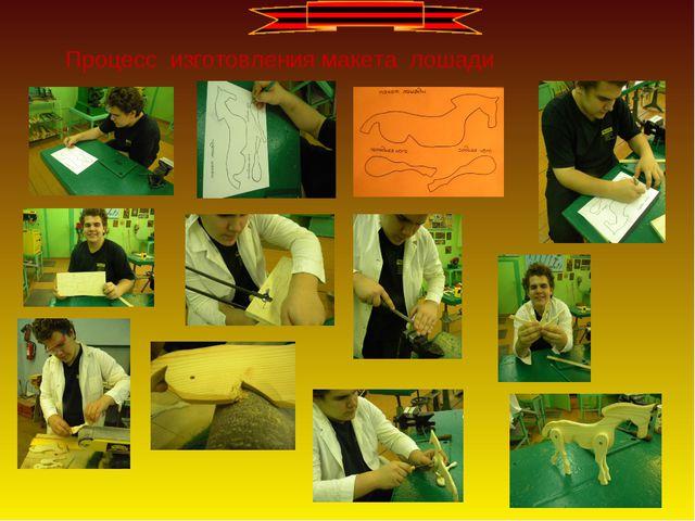 Процесс изготовления макета лошади