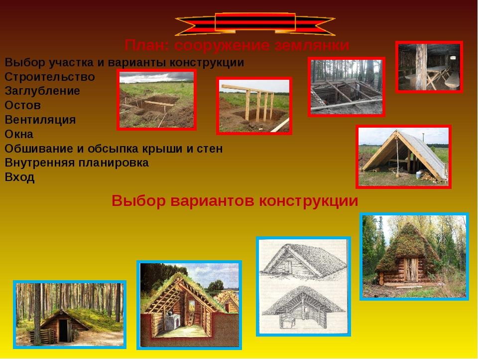 Выбор участка и варианты конструкции Строительство Заглубление Остов Вентиляц...