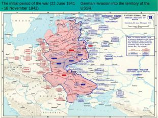 German invasion into the territory of the USSR: The initial period of the war
