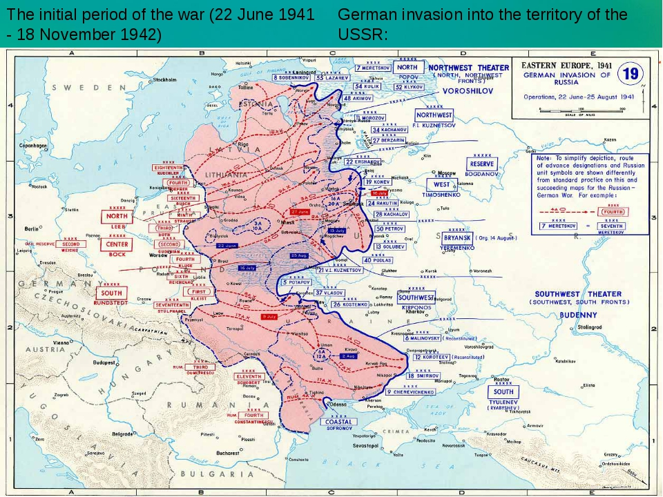 German invasion into the territory of the USSR: The initial period of the war...