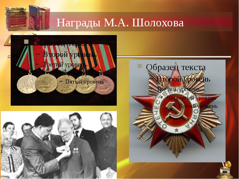 Награды М.А. Шолохова