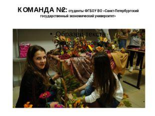 КОМАНДА №2: студенты ФГБОУ ВО «Санкт-Петербургский государственный экономичес