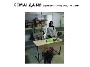 КОМАНДА №3: студенты 911 группы ГАПОУ «ЧТТПиК»