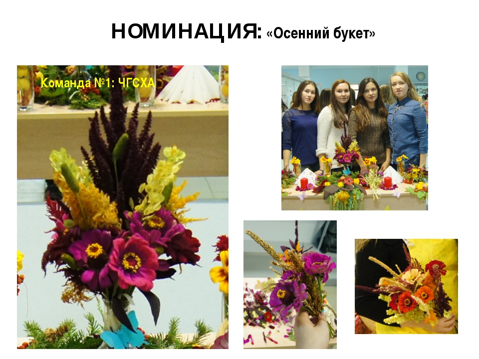 НОМИНАЦИЯ: «Осенний букет» Команда №1: ЧГСХА