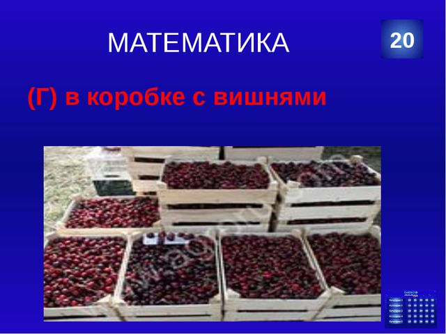 МАТЕМАТИКА (Б) 48 чашек 30 Категория Ваш ответ