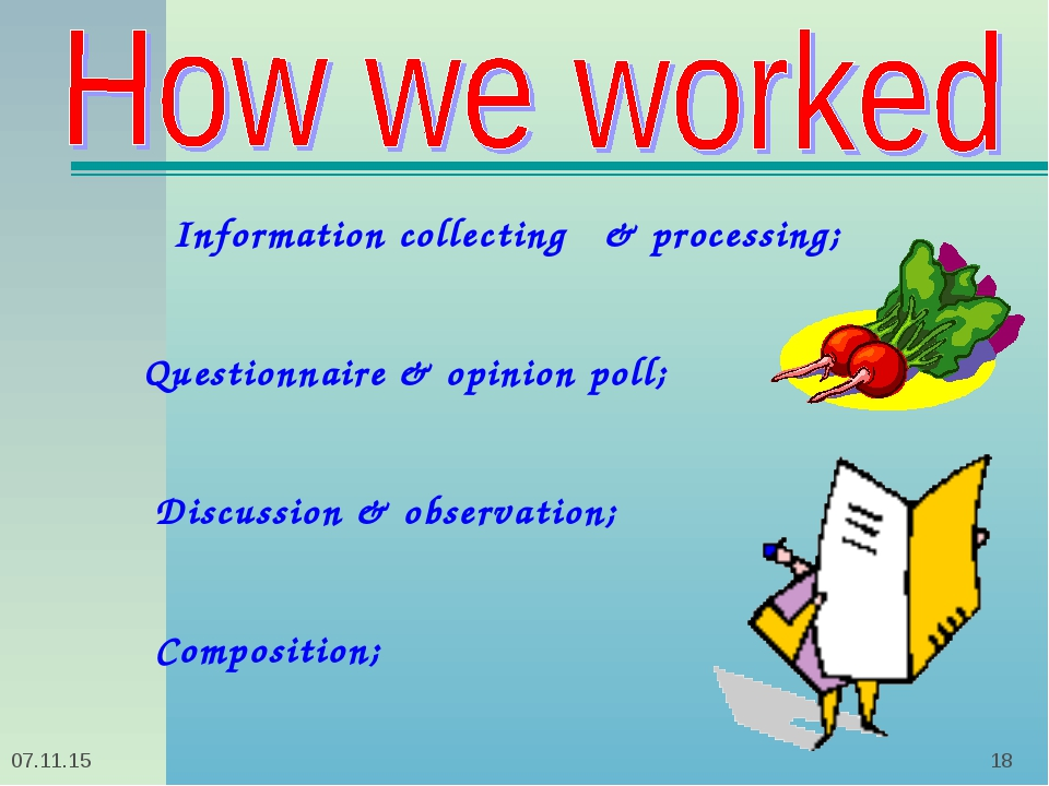 * *    Information collecting & processing; Questionnaire & opinion poll; Dis...