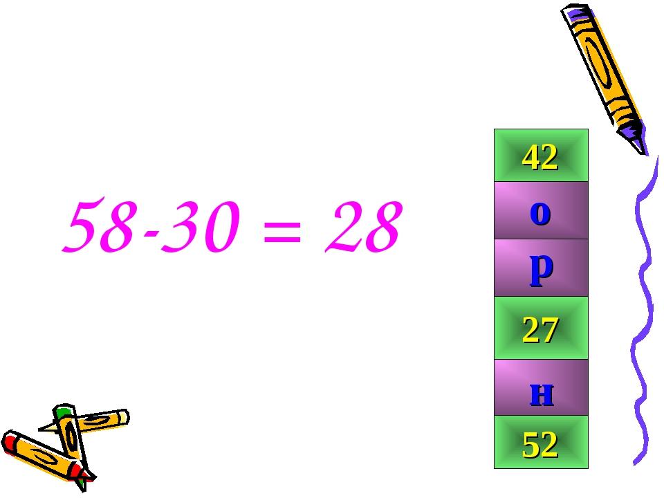 58-30 = 28 42 28 99 27 52 р н о