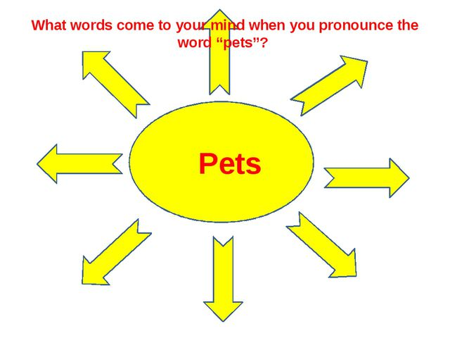 """What words come to your mind when you pronounce the word """"pets""""? Pets"""
