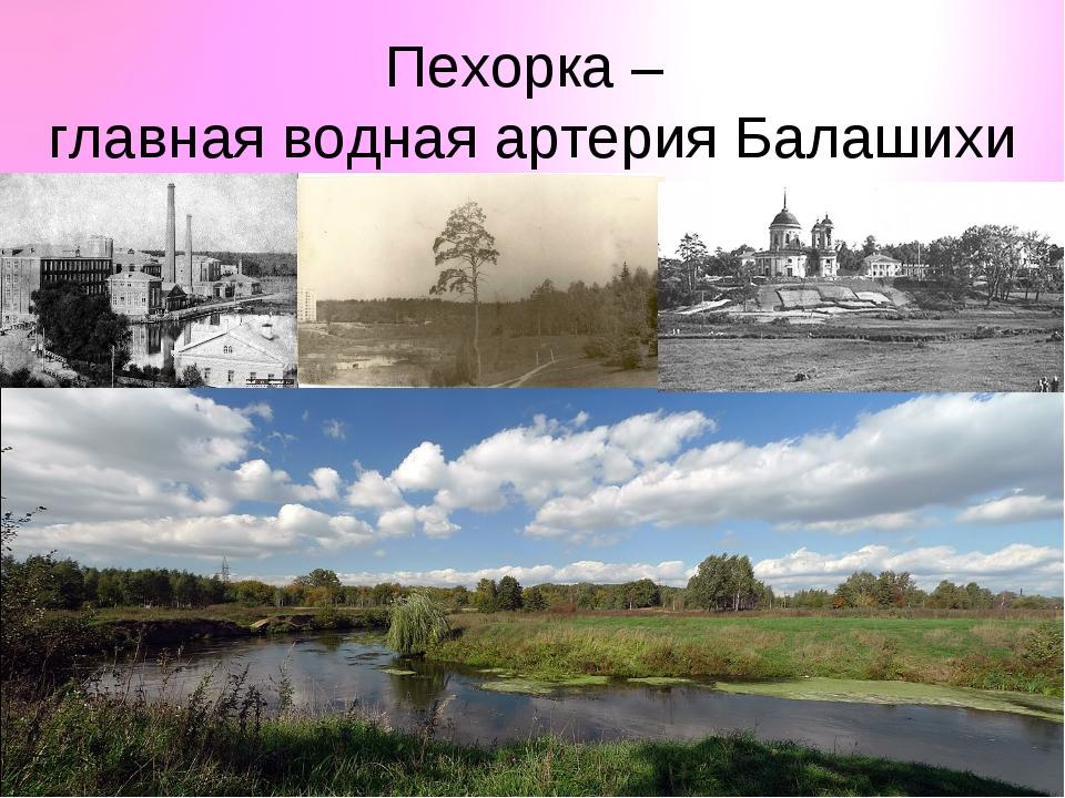 Пехорка – главная водная артерия Балашихи