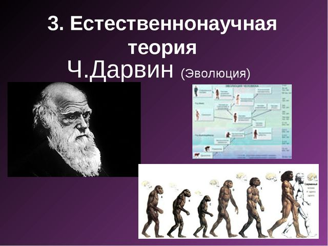 3. Естественнонаучная теория Ч.Дарвин (Эволюция)