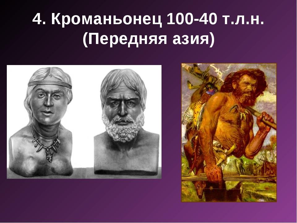 4. Кроманьонец 100-40 т.л.н. (Передняя азия)