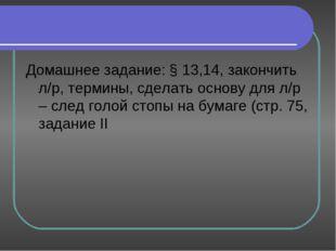 Домашнее задание: § 13,14, закончить л/р, термины, сделать основу для л/р – с