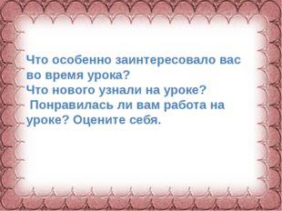 Фокина Лидия Петровна Что особенно заинтересовало вас во время урока? Что нов