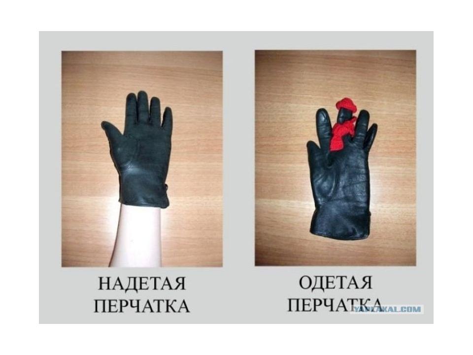 Как по-английски надевать одежду