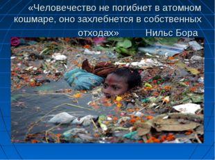 «Человечество не погибнет в атомном кошмаре, оно захлебнется в собственных от
