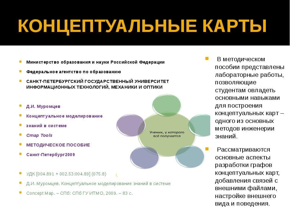 КОНЦЕПТУАЛЬНЫЕ КАРТЫ Министерство образования и науки Российской Федерации Фе...
