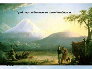 Гумбольдт и Бонплан на фоне Чимборасо.