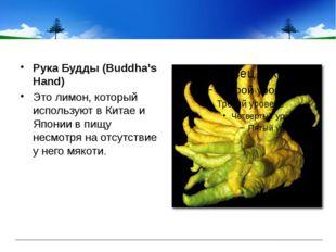 Рука Будды (Buddha's Hand) Это лимон, который используют в Китае и Японии в