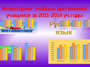 Мониторинг учебных достижений учащихся за 2011-2014 уч.годы Русский язык Каза