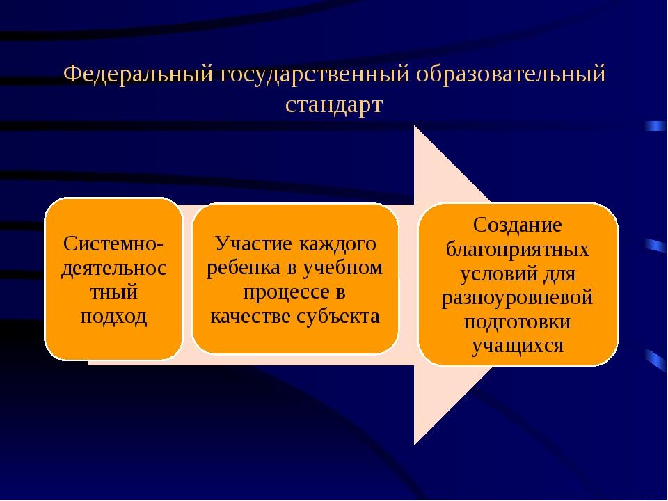 Федеральный государственный образовательный стандарт