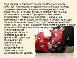 Под эгидой Российского общества Красного креста действует Служба милосердия,