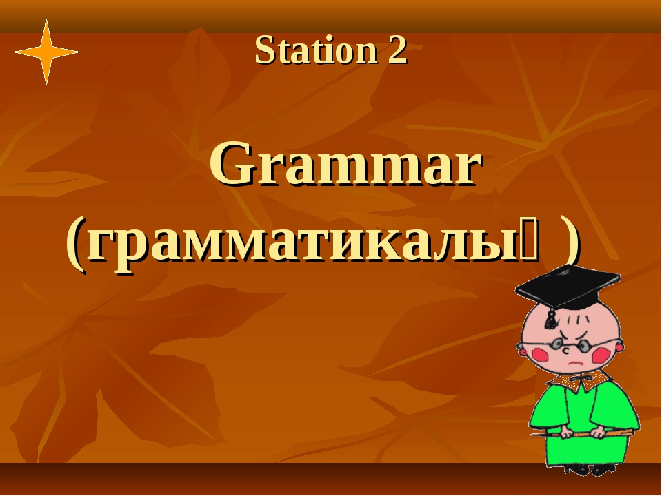 Station 2 Grammar (грамматикалық)
