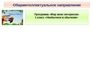 Общеинтеллектуальное направление Программа «Мир моих интересов» 1 класс «Необ