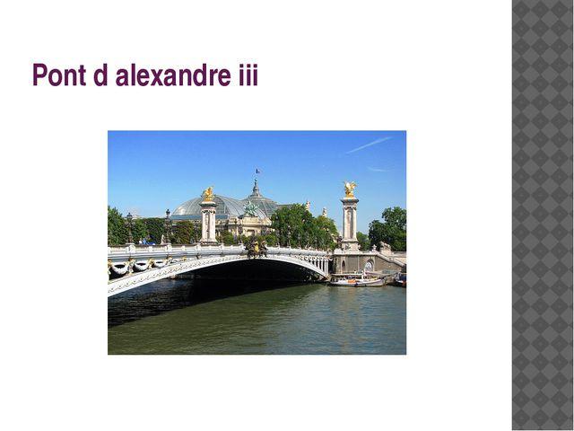 Pont d alexandre iii