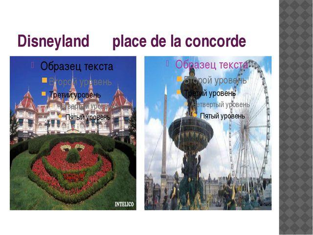 Disneyland place de la concorde