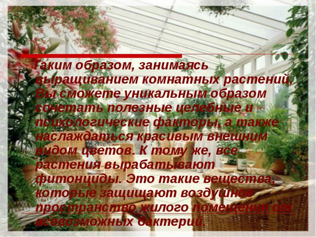 Таким образом, занимаясь выращиванием комнатных растений, Вы сможете уникаль...