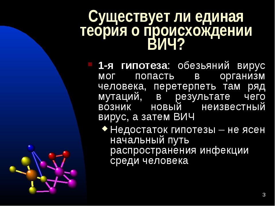 * Существует ли единая теория о происхождении ВИЧ? 1-я гипотеза: обезьяний ви...