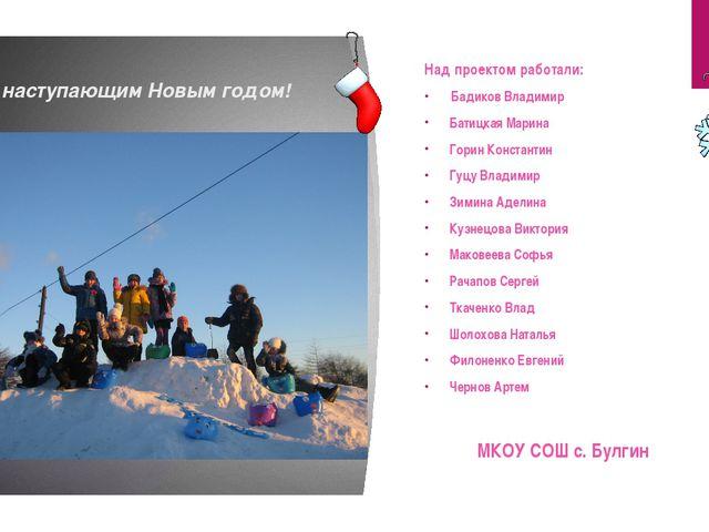 С наступающим Новым годом! Над проектом работали: Бадиков Владимир Батицкая М...