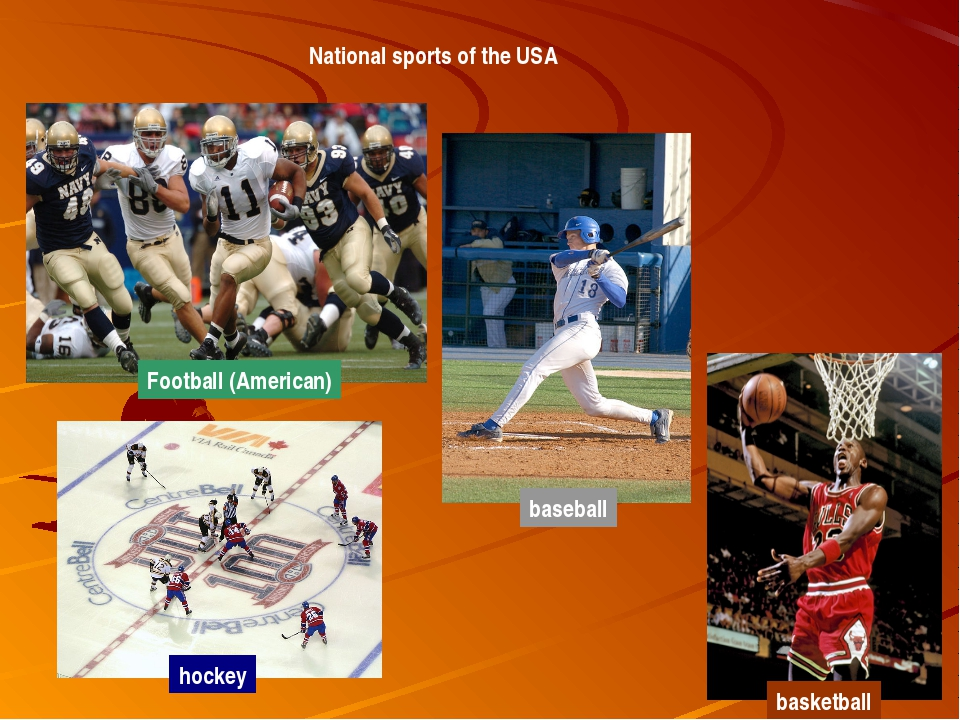 National sports of the USA Football (American) baseball basketball hockey