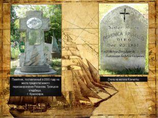 Памятник, поставленный в 2000 году на месте предполагаемого перезахоронения Р