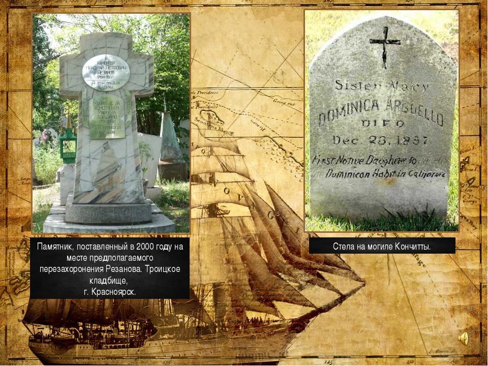 Памятник, поставленный в 2000 году на месте предполагаемого перезахоронения Р...