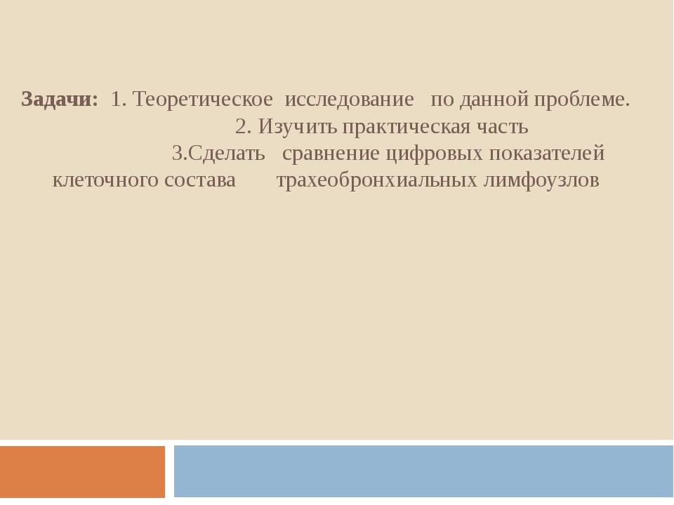 Задачи: 1. Теоретическое исследование по данной проблеме. 2. Изучить практиче...