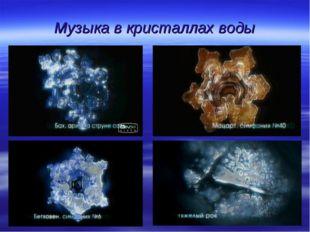 Музыка в кристаллах воды