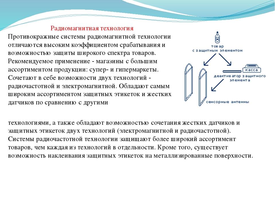 Радиомагнитная технология Противокражные системы радиомагнитной технологии от...