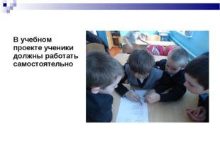 В учебном проекте ученики должны работать самостоятельно