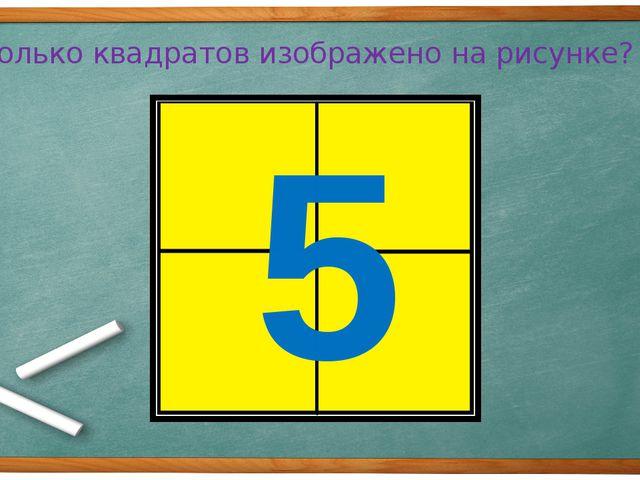Сколько квадратов изображено на рисунке? 5