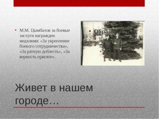 Живет в нашем городе… М.М. Цымбалов за боевые заслуги награжден медалями: «За