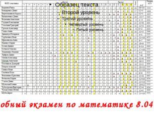 Пробный экзамен по математике 8.04.14