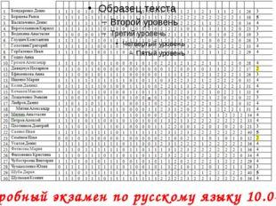 Пробный экзамен по русскому языку 10.04.14