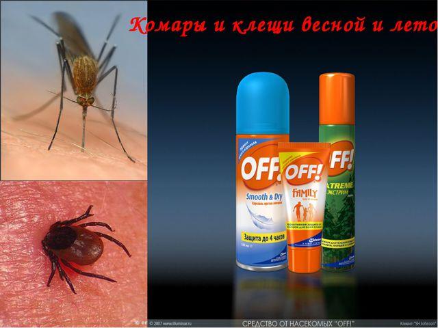 Комары и клещи весной и летом