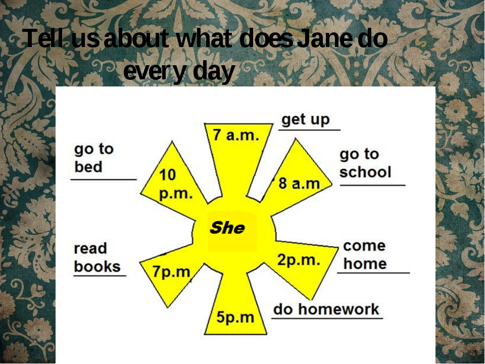Tell us about what does Jane do every day